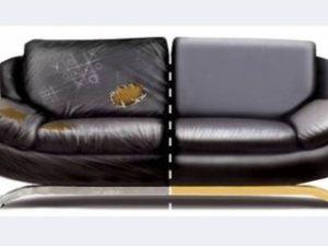 Перетяжка кожаного дивана в Екатеринбурге