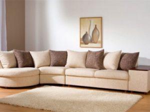 Перетяжка углового дивана на дому в Екатеринбурге